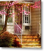 Spring - Door - Dogwood  Metal Print by Mike Savad