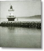 Spring Point Ledge Light Metal Print by Joan Carroll
