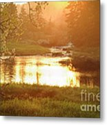 Spring Sunset Metal Print by Alana Ranney