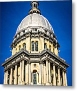 Springfield Illinois State Capitol Dome Metal Print by Paul Velgos