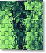 Square Mania - Old Man - Limeblue Metal Print by Emerico Imre Toth