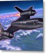 Sr-71 Blackbird Metal Print by Stu Shepherd
