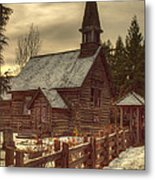 St Anne's Church In Winter Metal Print by Randy Hall