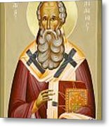 St Athanasios The Great Metal Print by Julia Bridget Hayes