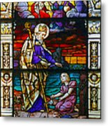 St Augustine By The Sea Shore Talking To A Child Metal Print by Christine Till