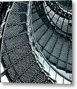 St Augustine Lighthouse Staircase Metal Print by Christine Till