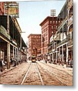 St Charles Street New Orleans 1900 Metal Print by Unknown