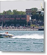 St. Clair Michigan Usa Power Boat Races-4 Metal Print by Paul Cannon