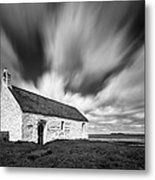 St Cwyfan's Church Metal Print by Dave Bowman