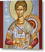 St Dimitrios The Myrrhstreamer Metal Print by Julia Bridget Hayes