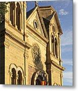 St. Francis Cathedral - Santa Fe Metal Print by Mike McGlothlen