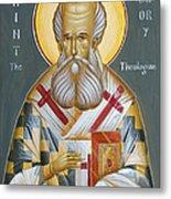 St Gregory The Theologian Metal Print by Julia Bridget Hayes