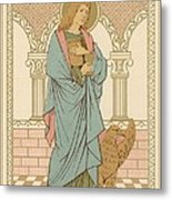 St John The Evangelist Metal Print by English School