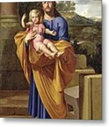 St. Joseph Carrying The Infant Jesus Metal Print by Pierre  Letellier