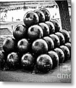 St. Joseph Michigan Cannon Balls Picture Metal Print by Paul Velgos