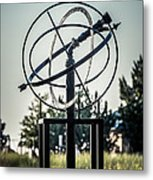 St. Joseph Whirlpool Compass Fountain Water Cannon Metal Print by Paul Velgos