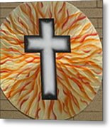 St. Josephs Cross Metal Print by Rick Roth