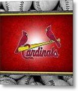 St Louis Cardinals Metal Print by Joe Hamilton