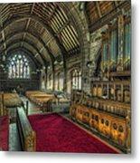 St Marys Church Organ Metal Print by Ian Mitchell