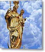 St Mary's Column Marienplatz Munich Metal Print by Christine Till