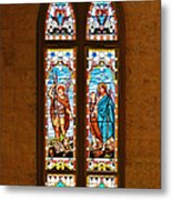 St Michael And St Raphael Metal Print by Christine Till