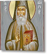 St Nektarios Of Aegina Metal Print by Julia Bridget Hayes