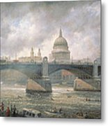 St. Paul's Cathedral From The Southwark Bank Metal Print by Richard Willis