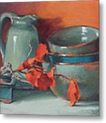 Stacked Bowls #4 Metal Print by Jean Crow