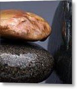 Stacked Stones 3 Metal Print by Steve Gadomski