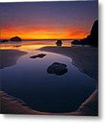 Stacks And Stones Metal Print by Mike  Dawson