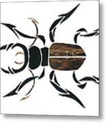 Stag Beetle Going Tribal Metal Print by Earl ContehMorgan