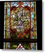 Stained Glass 3 Panel Vertical Composite 06 Metal Print by Thomas Woolworth