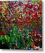 Stained Glass  Fall Reflected In The Still Waters Metal Print by Lanjee Chee