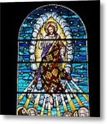 Stained Glass Pc 02 Metal Print by Thomas Woolworth
