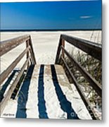 Stairway To Happiness And Possibilities Metal Print by Michelle Wiarda