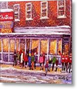 Standing In Line At The Chateau Metal Print by Rita Brown