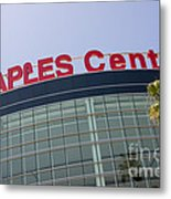 Staples Center Sign In Los Angeles California Metal Print by Paul Velgos