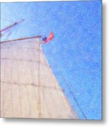 Star Of India. Flag And Sail Metal Print by Ben and Raisa Gertsberg