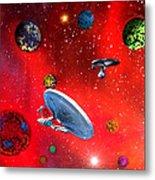 Star Ships Metal Print by Michael Rucker