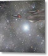 Star Trek - Approaching The Neutral Zone Metal Print by Jason Politte