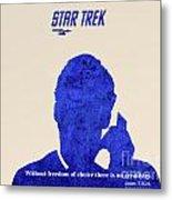 Star Trek Original - Kirk Quote Metal Print by Pablo Franchi