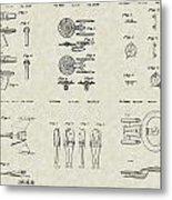 Star Trek Patent Collection Metal Print by PatentsAsArt