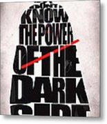 Star Wars Inspired Darth Vader Artwork Metal Print by Ayse Deniz