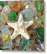 Starfish Fine Art Photography Seaglass Coastal Beach Metal Print by Baslee Troutman