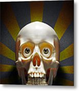 Staring Skull Metal Print by Carlos Caetano