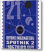 Starschips 21- Poststamp - Sputnik 2 Metal Print by Chungkong Art