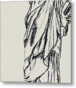 Statue Of Liberty New York Metal Print by Ginette Callaway