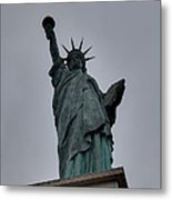 Statue Of Liberty - Paris France - 01131 Metal Print by DC Photographer