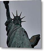 Statue Of Liberty - Paris France - 01132 Metal Print by DC Photographer