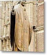 Statue Of Pope John Paul II Metal Print by Jess Kraft